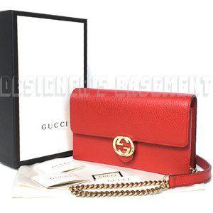 GUCCI crossbody INTERLOCKING G chain wallet Clutch